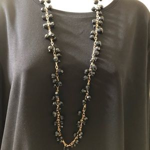 Black and Gold Long Necklace